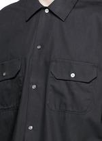 'Santos' oversized cotton utility shirt