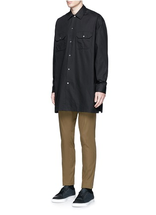 Front View - Click To Enlarge - Acne Studios - 'Santos' oversized cotton utility shirt