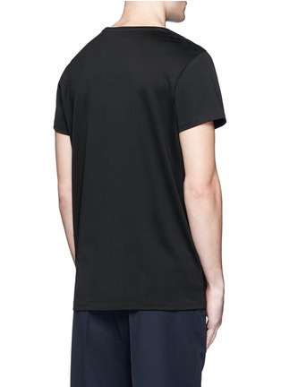 Back View - Click To Enlarge - Acne Studios - 'Standard Face' emoji patch cotton T-shirt