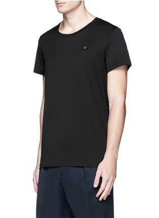 Front View - Click To Enlarge - Acne Studios - 'Standard Face' emoji patch cotton T-shirt