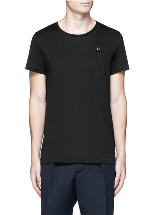 Main View - Click To Enlarge - Acne Studios - 'Standard Face' emoji patch cotton T-shirt