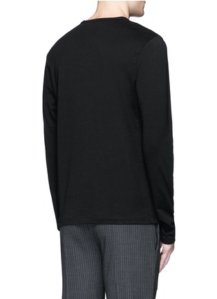 Back View - Click To Enlarge - Acne Studios - 'Tage Face' emoji patch cotton T-shirt