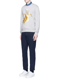 Acne Studios'Casey' banana emoji patch sweatshirt