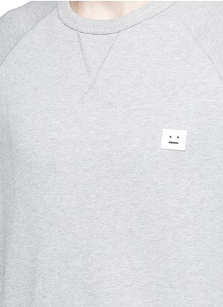 Detail View - Click To Enlarge - Acne Studios - 'College Face' emoji patch cotton sweatshirt