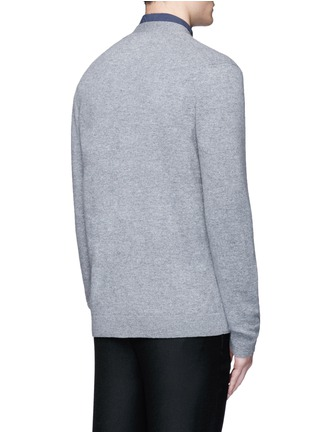 Back View - Click To Enlarge - Acne Studios - 'Dasher C Face' emoji patch wool cardigan