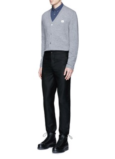 Acne Studios 'Dasher C Face' emoji patch wool cardigan