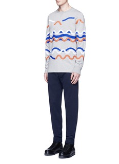 Acne Studios 'Fun Rhythm' wave patch sweatshirt
