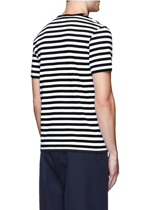 Back View - Click To Enlarge - Acne Studios - 'Eddy Stripes' jersey T-shirt