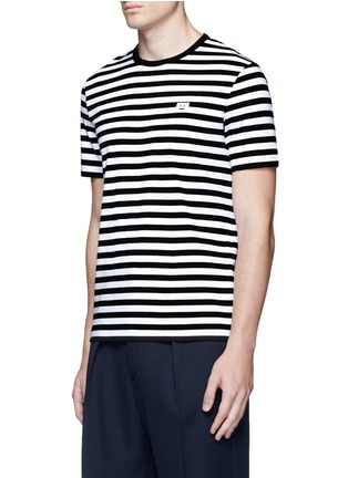 Front View - Click To Enlarge - Acne Studios - 'Eddy Stripes' jersey T-shirt