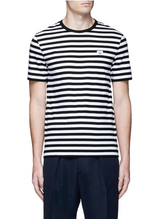 Main View - Click To Enlarge - Acne Studios - 'Eddy Stripes' jersey T-shirt