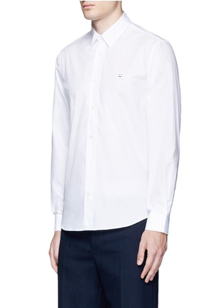 Front View - Click To Enlarge - Acne Studios - 'Jeffrey' emoji patch poplin shirt