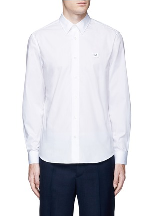 Main View - Click To Enlarge - Acne Studios - 'Jeffrey' emoji patch poplin shirt