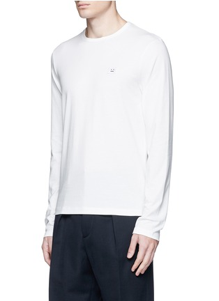 Front View - Click To Enlarge - Acne Studios - 'Tage Face' emoji patch cotton T-shirt
