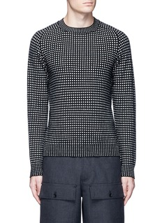 Acne Studios 'Kite' check wool-cashmere sweater