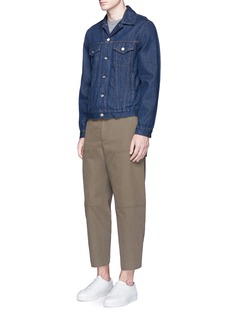 Acne Studios 'Phase' cotton-linen flare work pants