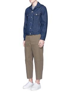 Acne Studios'Phase' cotton-linen flare work pants