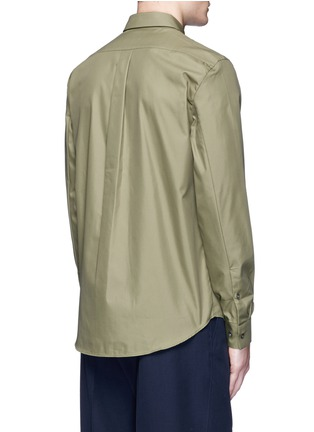 Back View - Click To Enlarge - Acne Studios - 'Spin' pocket military shirt