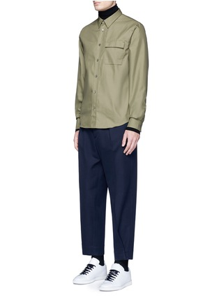Figure View - Click To Enlarge - Acne Studios - 'Spin' pocket military shirt