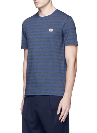 Front View - Click To Enlarge - Acne Studios - 'Eddy Stripes' mélange jersey T-shirt