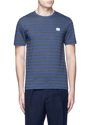 Main View - Click To Enlarge - Acne Studios - 'Eddy Stripes' mélange jersey T-shirt