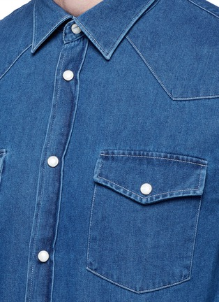 Detail View - Click To Enlarge - Acne Studios - 'Ewing' washed cotton denim Western shirt