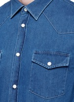 'Ewing' washed cotton denim Western shirt