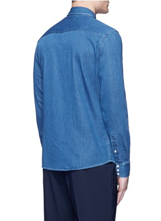 Back View - Click To Enlarge - Acne Studios - 'Ewing' washed cotton denim Western shirt