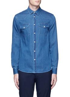Acne Studios'Ewing' washed cotton denim Western shirt