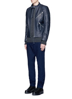 Acne Studios 'Oliver' quilted shoulder leather moto jacket