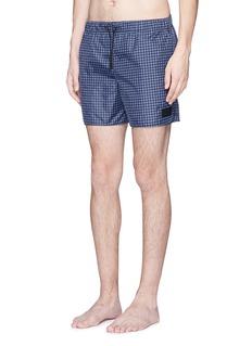 Acne Studios'Perry' gingham check print swim shorts