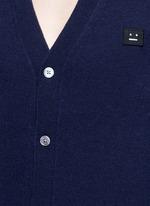 'Dasher C Face' emoji patch wool cardigan