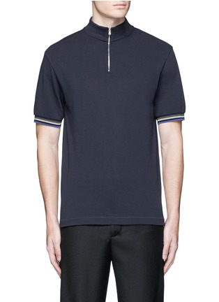 Acne Studios - 'Keller' mock turtleneck cotton polo shirt