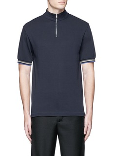 Acne Studios 'Keller' mock turtleneck cotton polo shirt