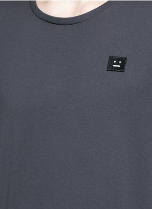 Detail View - Click To Enlarge - Acne Studios - 'Standard Face' emoji patch cotton T-shirt