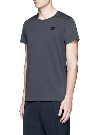 Acne Studios - 'Standard Face' emoji patch cotton T-shirt