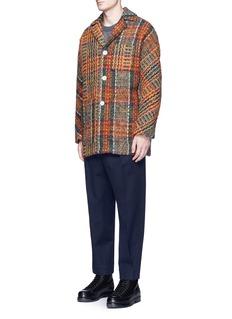 Acne Studios'Min' Glen plaid tweed kimino coat
