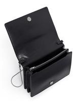 'Pelican' large padlock leather crossbody chain bag