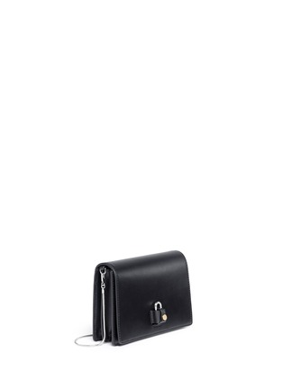 Front View - Click To Enlarge - Alexander Wang  - 'Pelican' large padlock leather crossbody chain bag