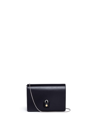 Main View - Click To Enlarge - Alexander Wang  - 'Pelican' large padlock leather crossbody chain bag
