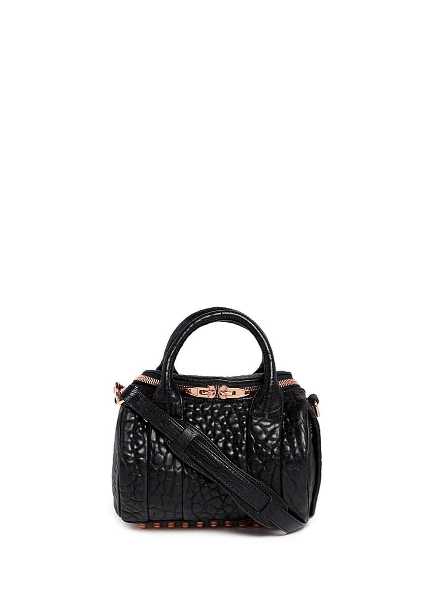 Mini Rockie pebbled leather duffle bag by Alexander Wang