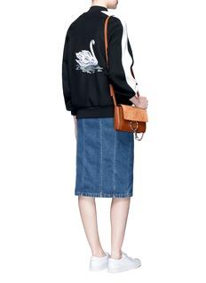 Stella McCartney'Lorinda' swan embroidered bomber jacket