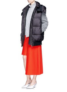 Stella McCartney Hooded quilted puffer vest