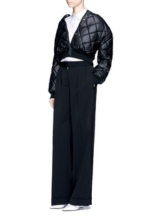 Stella McCartney Quilted faux leather cropped coat
