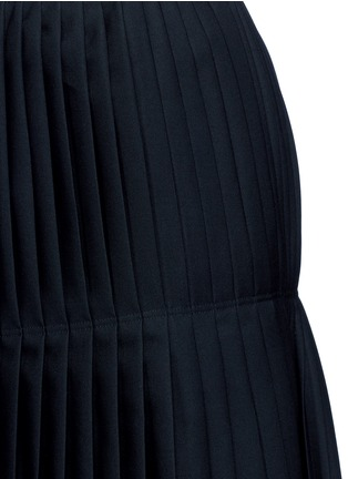 Detail View - Click To Enlarge - Stella McCartney - Layered pleat wool twill maxi skirt
