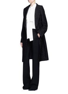 Stella McCartneyFlecked wool blend gabardine coat