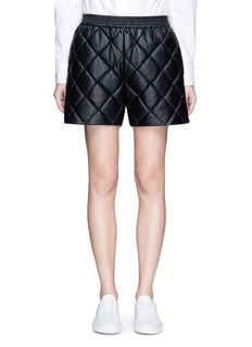 Stella McCartney'Cesira' quilted faux leather shorts