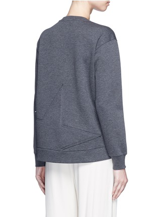 Back View - Click To Enlarge - Stella McCartney - Star patch embroidered bonded jersey sweatshirt