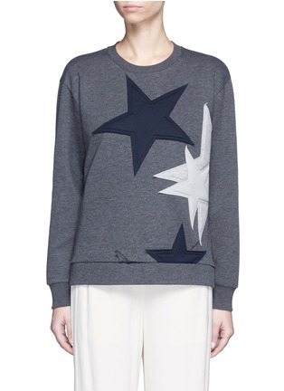 Main View - Click To Enlarge - Stella McCartney - Star patch embroidered bonded jersey sweatshirt