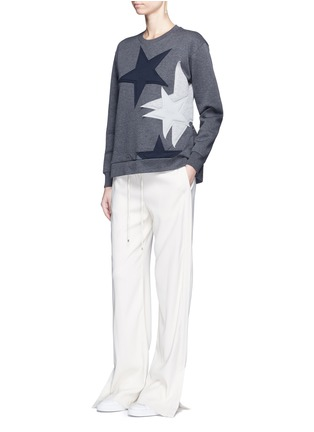 Figure View - Click To Enlarge - Stella McCartney - Star patch embroidered bonded jersey sweatshirt