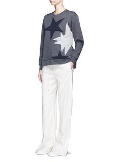 Stella McCartneyStar patch embroidered bonded jersey sweatshirt